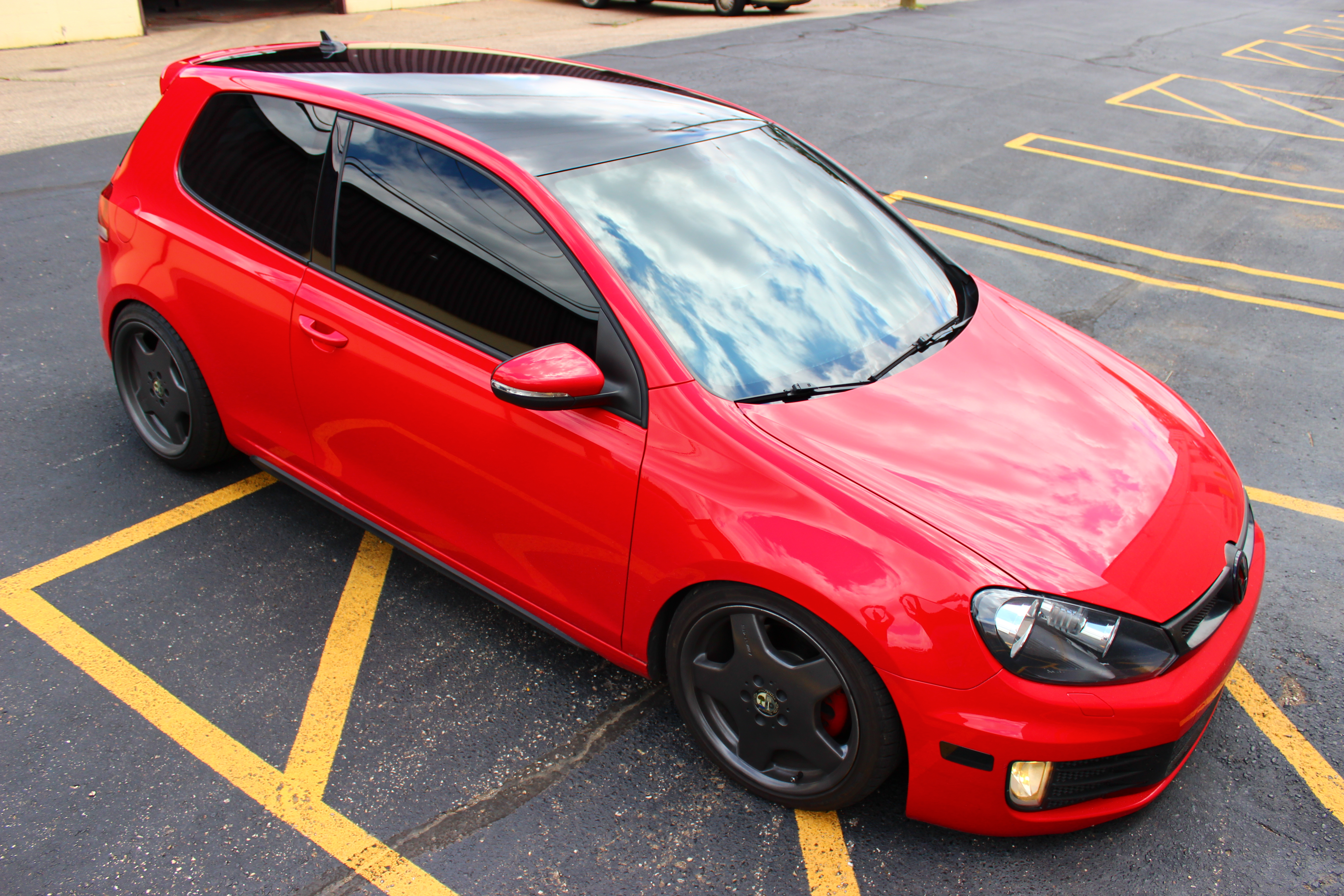 Gloss Black Roof Wrap - One Soul Graphics